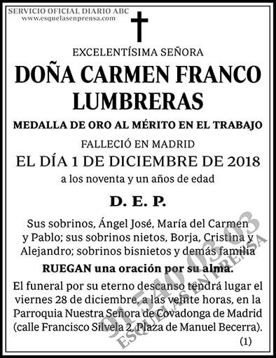 Carmen Franco Lumbreras